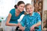 Caregiver with senior